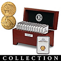 Complete U.S. Indian Head Gold Quarter Eagle Coin Collection