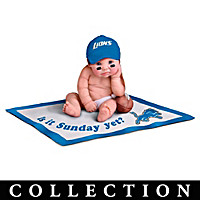 NFL Licensed Detroit Lions #1 Fan Baby Doll Collection