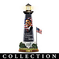 Barack Obama Message Of Hope Lighthouse Sculpture Collection