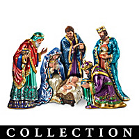 The Jeweled Nativity Figurine Collection