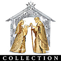 Holy Night Brass Nativity Collection