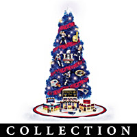 New England Patriots Tabletop Christmas Tree Collection