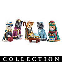 The PURR-Fect Christmas Pageant Figurine Collection