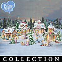 Precious Moments Christmas Village Figurine Collection