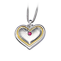 My Granddaughter, My Joy Heart-Shaped Birthstone Pendant