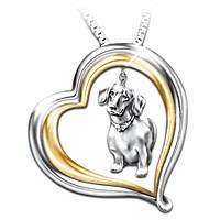 Loyal Companion Dachshund Pendant Necklace