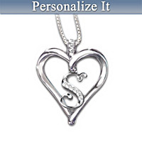 Love Letter Diamond Initial Pendant