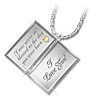 Dear Granddaughter Letter Of Love Pendant Necklace
