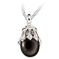 Black Tahitian Pearl & Diamond Pendant