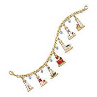 Guiding Lights Of The Great Lakes Charm Bracelet