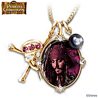 Pirates Of The Caribbean Jeweled Pendant Necklace