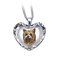 Yorkie, Close To My Heart Crystal Dog Pendant Necklace