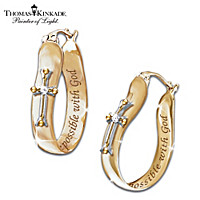 Thomas Kinkade Believe Earrings