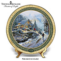 Thomas Kinkade Bringing Home The Tree Collector Plate