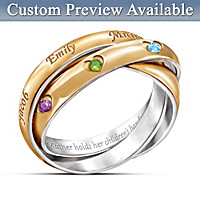 A Heartfelt Bond Personalized Trinity Ring