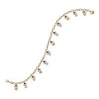 A Dozen Roses Ruby Charm Bracelet