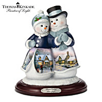 Thomas Kinkade Snow Joyful Figurine