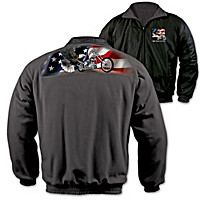 Ride Hard, Live Free Reversible Fleece Jacket
