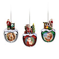 Dona Gelsinger's Santa Ornaments Set One: Set Of Three
