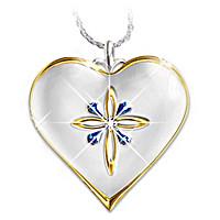 Pendiente De Diamante Y Zafiros Mi Hija Bendita