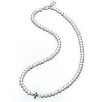 The Trinity Sapphire And Diamond Cultured Pearl Necklace