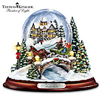 Thomas Kinkade Jingle Bells Snowglobe