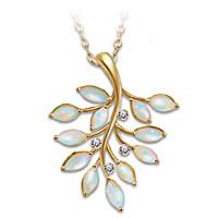 Opal Indulgence Pendant Necklace