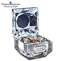 Thomas Kinkade Christmas Music Box With Moving Train