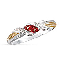 Ruby & Diamond Embrace Ring