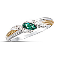 Emerald & Diamond Embrace Ring