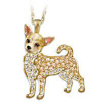 Best In Show Chihuahua Crystal Pendant Necklace