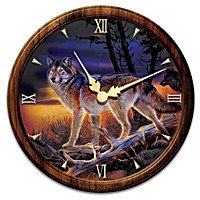 Illuminations Of The Wild Wall Clock