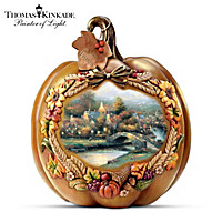 Thomas Kinkade Give Thanks Table Centerpiece