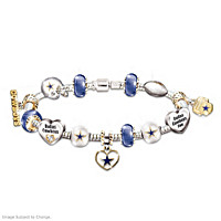 Go Cowboys! #1 Fan Charm Bracelet