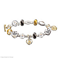 Go Steelers! #1 Fan Charm Bracelet