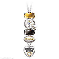 Go Steelers! #1 Fan Necklace