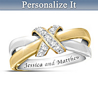 Eternity's Kiss Diamond Personalized Ring