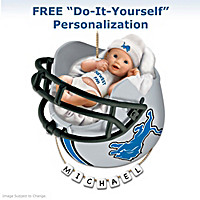 Detroit Lions Personalized Baby's First Ornament