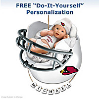 Arizona Cardinals Personalized Baby's First Ornament