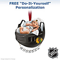 Chicago Blackhawks® Personalized Baby's First Ornament