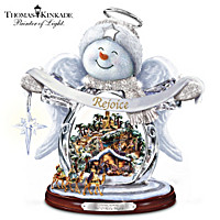 Thomas Kinkade Sn'O Holy Night Crystal Snow Angel Sculpture