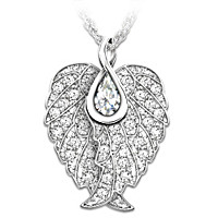 Swarovski  Crystal Guardian Angel Wings Pendant Necklace