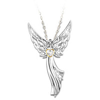 Guardian Angel Of Love Pendant Necklace