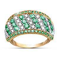 Rare Beauty Emerald And Diamond Ring