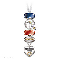 Go Patriots! #1 Fan Charm Necklace