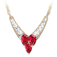 Enduring Love Garnet And Diamond Necklace