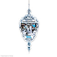 Carolina Panthers Super Bowl 50 Crystal Ornament