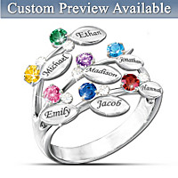Personalized Family Jewelry With Birthstones