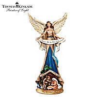 Thomas Kinkade Unto Us A Child Is Born Figurine