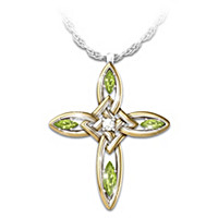 Infinite Blessings Peridot & Diamond Pendant Necklace